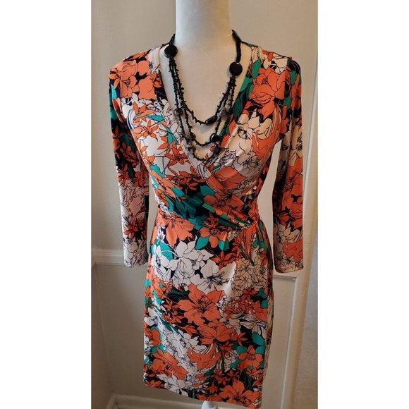 Anne Klein Dresses & Skirts - Super sexy Anne  Klein New Hot Floral Wrap Dress S